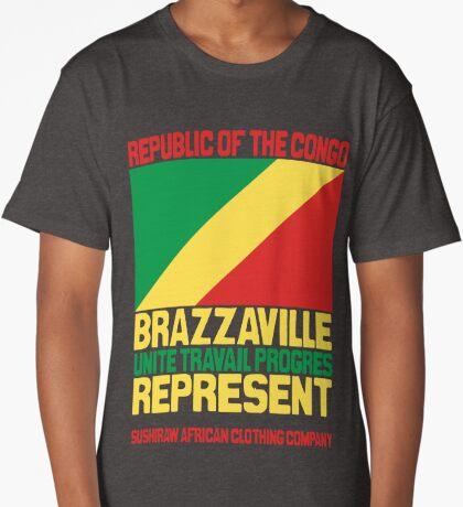 Brazzaville Congo represent Long T-Shirt