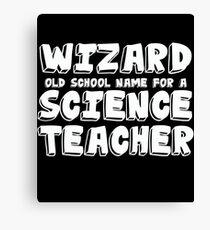 Science Teacher Design Canvas Print