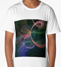 Futuristic Background Long T-Shirt