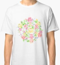 Bouquet of PINK, RED and YELLOW rose - wreath Classic T-Shirt