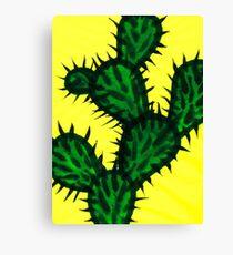 Chinese brush painting - Opuntia cactus. Canvas Print