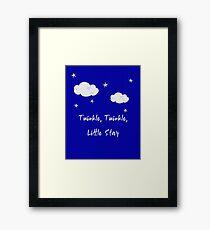 Twinkle, Twinkle, Little star Framed Print