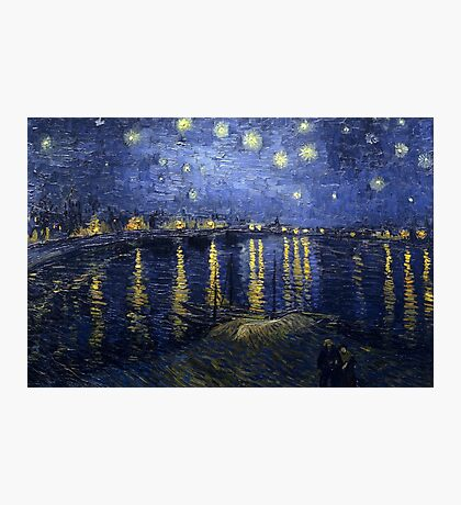 'Starry Night Over The Rhone' by Vincent Van Gogh (Reproduction) Photographic Print