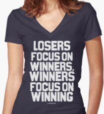 Losers Women's Fitted V-Neck T-Shirt