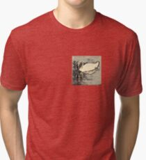 Japanese art print swan Tri-blend T-Shirt