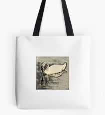 Japanese art print swan Tote Bag