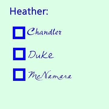 Are You a Heather? by flapperwitch