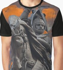 Italy. Turin. Equestrian monument to Emanuele Filiberto.  Graphic T-Shirt