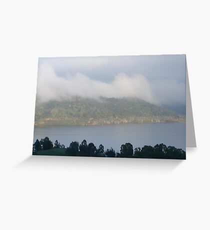 Veiled by Morning Mist Greeting Card