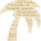Thinglish Lifestyle Word Cloud Coconut Palm Tree by Thinglish Lifestyle