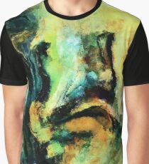 Green and Yellow Abstract Painting / Surrealist Art Graphic T-Shirt