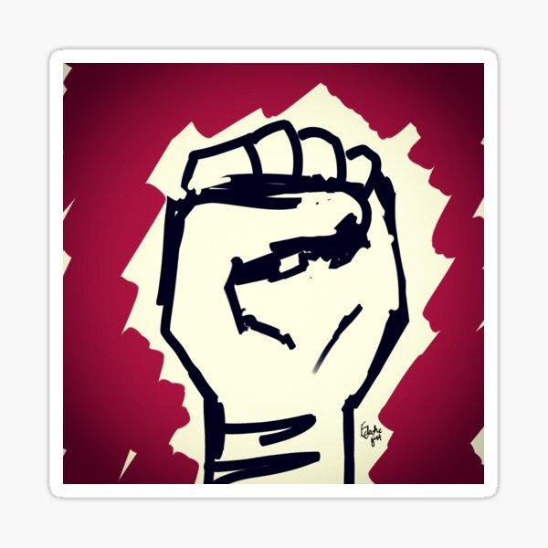 Power - black power salute vignette Sticker