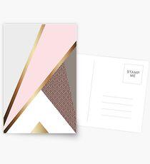 Pink Geometry Postcards