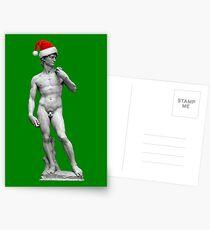 Michelangelo's David - Christmas Edition Postcards