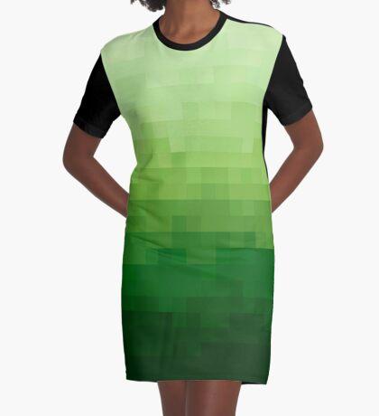 Gradient Pixel Green Vestido camiseta