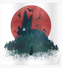 Landscape Bunny Poster