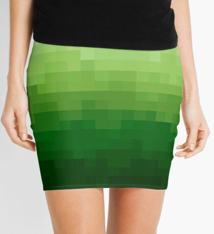 Gradient Pixel Green Minifalda