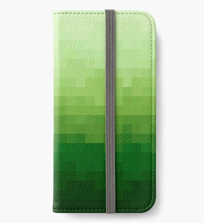 Gradient Pixel Green Funda tarjetero para iPhone