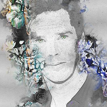 Benedict Cumberbatch - sketch with butterflies by Joey27