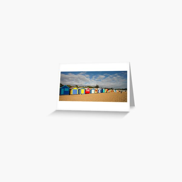 Beautiful Brighton Bathing Boxes Greeting Card