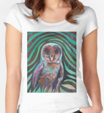 Owl Heart Women's Fitted Scoop T-Shirt