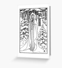 Mother Nature Winter Greeting Card