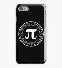 Pi Circular Digits - White Text Design for Math and Science Geeks/Nerds iPhone Case/Skin