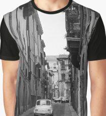 Cinquecento Fiat 500 Verona BW Graphic T-Shirt