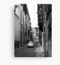 Cinquecento Fiat 500 Verona BW Canvas Print