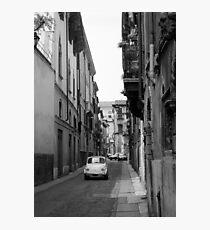Cinquecento Fiat 500 Verona BW Photographic Print