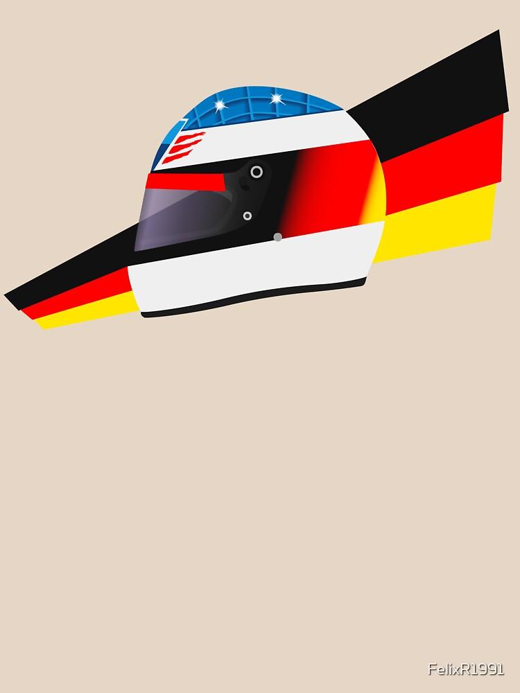 German racing driver helmet by FelixR1991