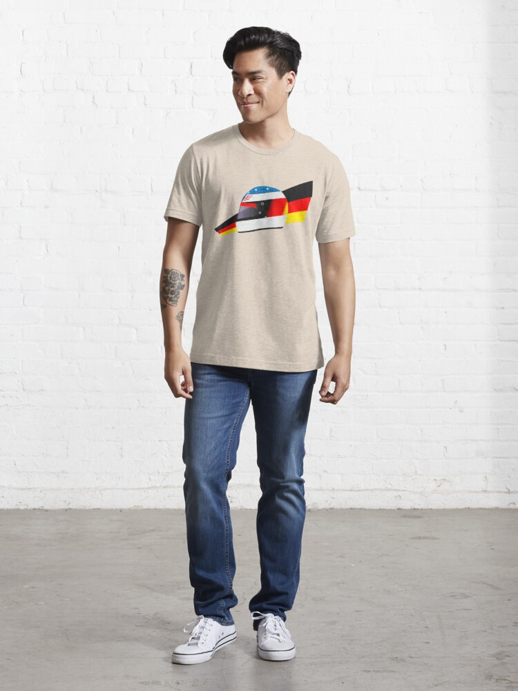Alternate view of German racing driver helmet Essential T-Shirt