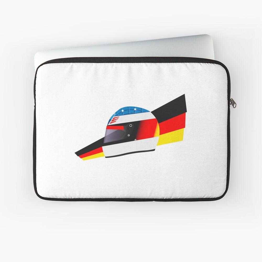 German racing driver helmet Laptop Sleeve