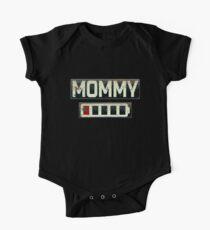 Women's Daughter T-Shirt Mommy Battery Energy Shirt Kids Clothes