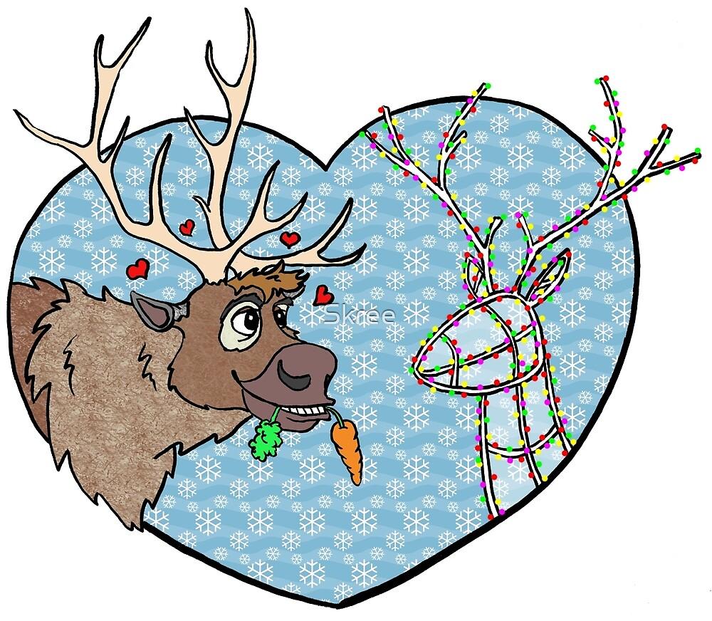 Reindeer Love by Skree