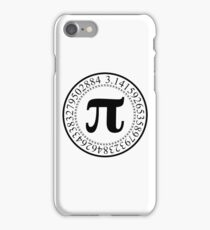Pi Circular Digits - Black Text Design for Math and Science Geeks/Nerds iPhone Case/Skin