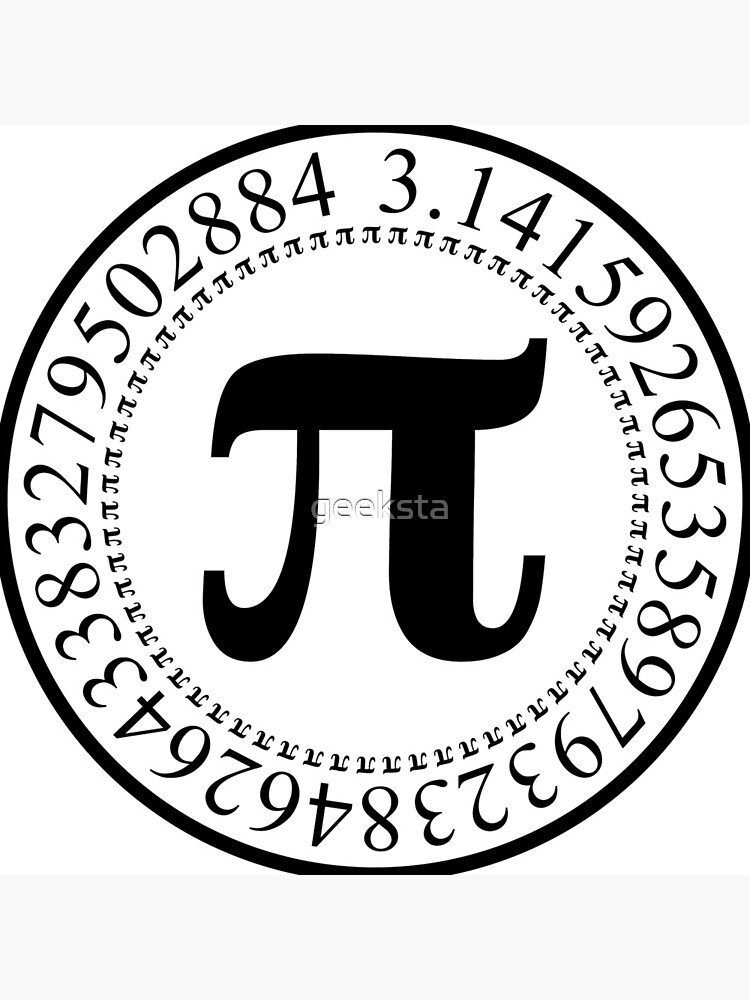 Pi Circular Digits - Black Text Design for Math and Science Geeks/Nerds by geeksta