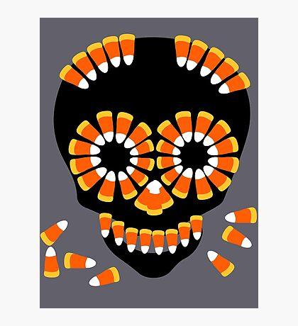 Candy Skull Halloween Theme by Patjila Photographic Print
