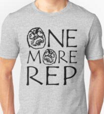 ONE MORE REP - Gym Meme Face Unisex T-Shirt