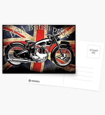 Vintage Classic British BSA Motorcycle Icon Postcards