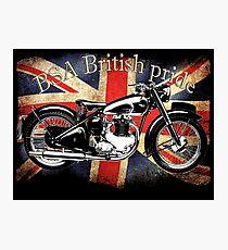 Vintage Classic British BSA Motorcycle Icon Photographic Print