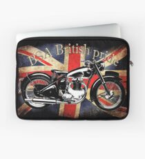 Vintage Classic British BSA Motorcycle Icon Laptop Sleeve
