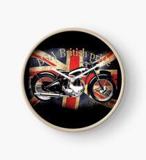 Vintage Classic British BSA Motorcycle Icon Clock