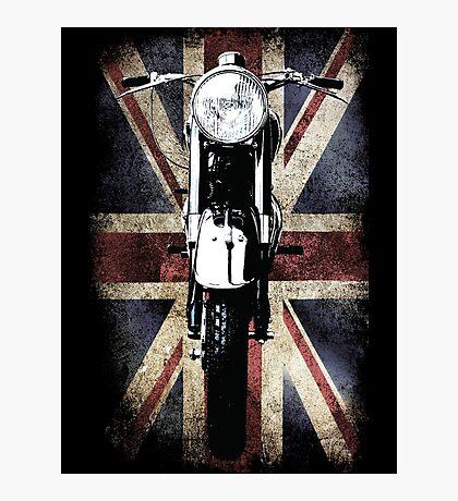 Classic British BSA Motor Cycle Tee Photographic Print