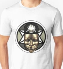 Anonymous hacker (bronze) Unisex T-Shirt