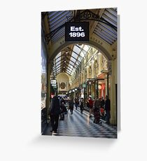 Shopping Arcade Melbourne - Victoria Greeting Card