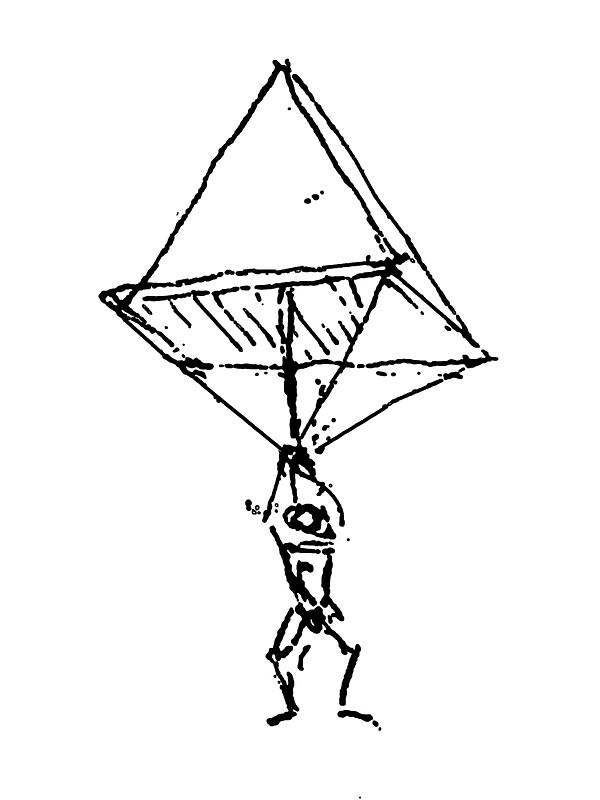 how to make leonardo da vinci parachute