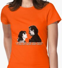 I never liked a girl well enough to give her twelve sharp knives.  Women's Fitted T-Shirt