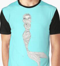 Whimsy Ocean Mermaid Illustration Print Graphic T-Shirt