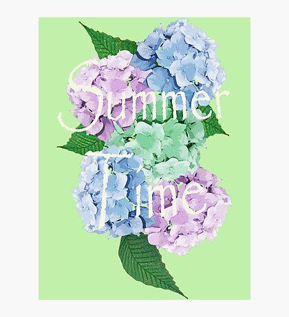 Pastel Palette Summer Floral Design Photographic Print